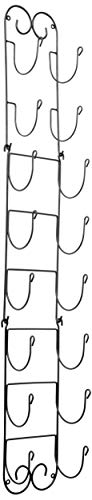 Home Traditions Z01661 Wall Mounted Wine Rack Holds Up to 8 Bottles Large Black