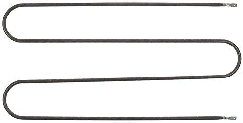 Radiator aansluiting platte stekker 6,3 mm aansluitafstand 174 mm breedte 180 mm lengte 410 mm L1 375 mm 833 W 240 V