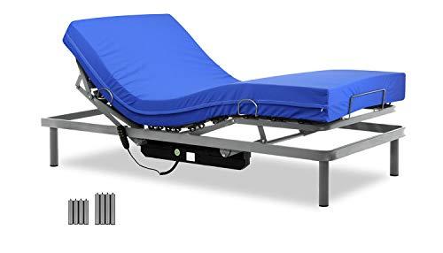 Gerialife - Cama Articulada con Colchón Sanitario HR Impermeable (90x190)