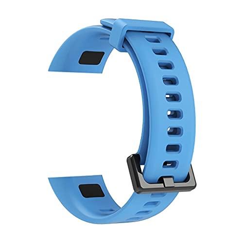 Merezca de la correa de reloj for Wei Band 4 Reemplazo Sport Correa Silicona Pulsera de silicona Relojes rápidos Accesorios (Band Color : Silver)