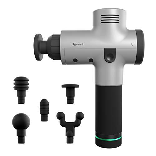 Hypervolt Bluetooth, Featuring Quiet Glide Technology - Handheld Percussion Massage Gun | 3 Speeds, 5 Interchangeable Heads | Helps Relieve Sore Muscles and Stiffness (Hypervolt w/ Bluetooth)