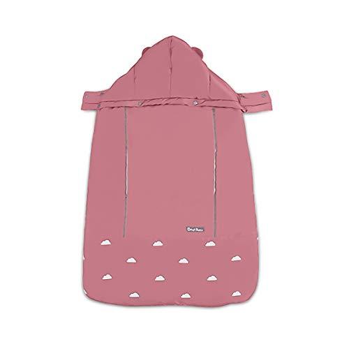 SONARIN Universal All Seasons Cobertor para portabebés,Capa para el invierno,Prueba de viento,Impermeable,Sombrero Desmontable(Rosado)