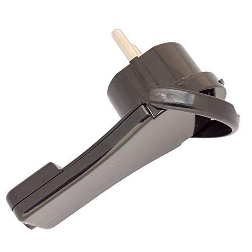 Enchufe plano con protección de contacto negro (2P+PE) extraplano de plástico para secciones transversales de cable de 0,75 mm – 1,5 mm (250 V/16 A) clase de protección IP20 [Clase energética A]