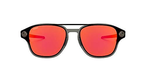 Oakley Men's OO6042 Coldfuse Titanium Square Sunglasses, Mv Matte Black/Prizm Ruby, 52 mm
