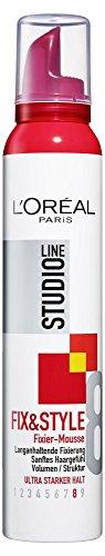 L'Oréal Paris Studio Line Style&Shine Mousse ultra stark 200 ml, 1er Pack (1 x 200 ml)