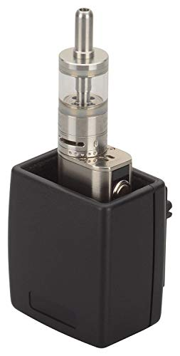 Wicked Chili Auto E-Zigaretten Halter Dampfständer KFZ Vape Box mit Lüftungs Clip und Anti-Scratch Innenbeschichtung für Verdampfer - max. Gerät Abmessungen 30 x 50 mm - Made in Germany, schwarz