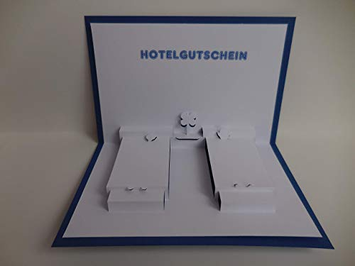 Pop up Karte - Hotel-Gutschein