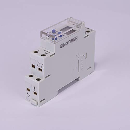 SeniorMar SINOTIMER 220V / 110V TM610 1P 18MM Módulo único Riel DIN LCD Digital 7 días 24 Horas Interruptor Temporizador programable