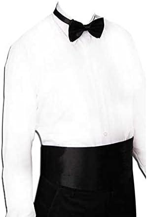 UXZDX CUJUX Gentleman Solid Wide Silk Satin Elastic Belly Band Tuxedo Cummerbund Commercial Banquet Model Business Elite (Color : B)
