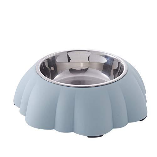 Cuencos De Acero Inoxidable para Cachorros, con Goma Antideslizante, Mascotas, Cachorros, Alimentadores De Alimentos Y Agua, Alimentador De Cuencos De Destete,Azul