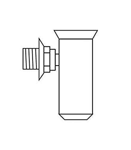 Vaillant 000376 Ablauftrichter R, 1 Zoll mit Siphon und Rosette