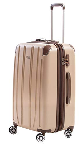 Alpni Horizon Bi Hard Suitcase, 100% ABS, Ultra Protected Closure, Champagne (Beige) (Beige) - HORIZON 2.6 BE