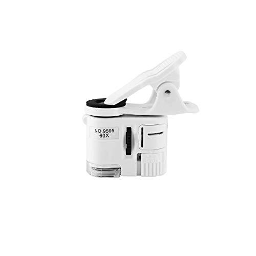 スマホ用ルーペ 拡大鏡 x60 60倍率 LED付き UVライト スマホ用マイクロスコープ スマホのカメラが顕微鏡に変わる SDM便