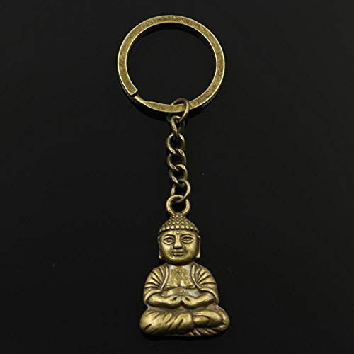 Wjlytf 3 cm Llavero de metal Joyas de bronce Colgante de Bud