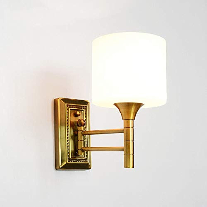 ZHANG NAN ● Amerikanische Wandleuchte Nachahmung Kupfer und Eisen Single Head Wandleuchten Nachttischlampe Hintergrundlicht Spiegel Scheinwerfer dekorative Lichter ●
