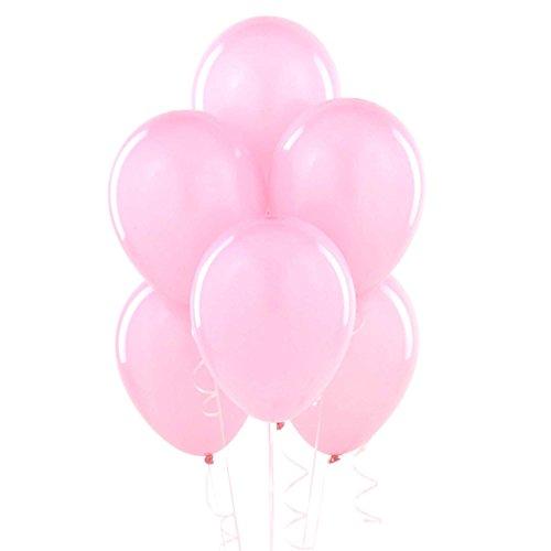 Shatchi 50 stks Licht Roze Latex Ballonnen Helium Kwaliteit Bruiloft Verjaardag Verjaardag Verjaardag communie Partij Decoraties Baloon Vieringen 12