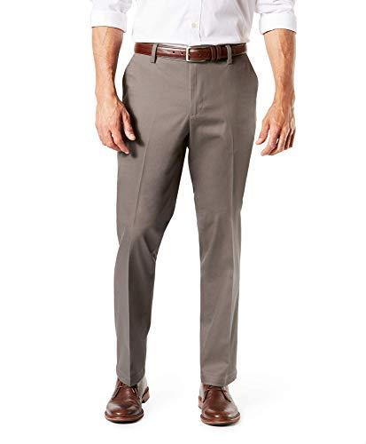 Dockers Straight Fit Signature Khaki 2.0 Stretch Pants D2 Pantalones de Tiempo Libre, Dark Pebble - No se Arruga, 36W x 30L para Hombre