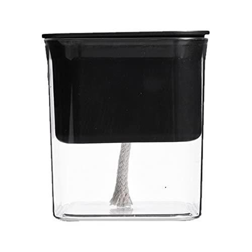 MONLEYTA 1 styck transparent fröplanta självbevattningskruka, hydrofonisk suckulent blomkruka för inomhusväxter 2 svart