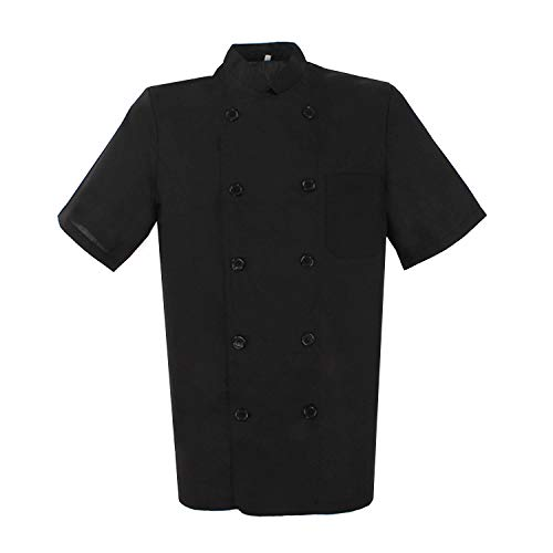 Misemiya ® ® Chaquetas Chef Cocinero mangas Cortas Camisa de Utilidades de trabajo