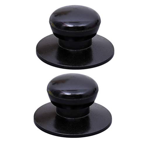 Yardwe 4pcs Pot Lid Knob Universal Holding Knob Screw Handle Hand Grip Pan Cover Knob Kitchen Cookware Replacement Accessories (Black)