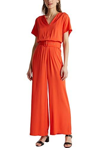 ESPRIT Collection Damen 040EO1L302 Overall, 825/RED ORANGE, 42
