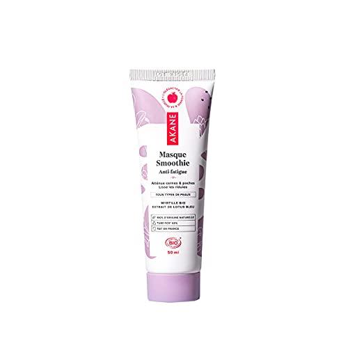AKANE - Masque Smoothie - Soin contour des yeux - Lisse Les Ridules - Atténue Cernes Et Poches - Myrtilles BIO & Extrait de Lotus Bleu - 50 ml