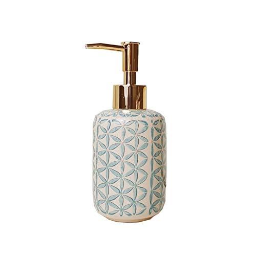 huihuishop Dispensador de jabón para baño Cerámica dispensador de jabón champú Gel Gel de jabón Hecho a Mano de Botella de jabón Productos de baño Perfecto Regalo de Boda Dispensador de Bomba de
