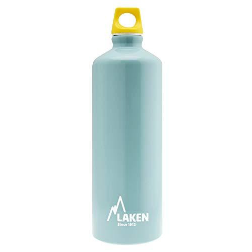 Laken Futura Alu Trinkflasche Schmale Öffnung Schraubdeckel mit Schlaufe 1L, Hellblau