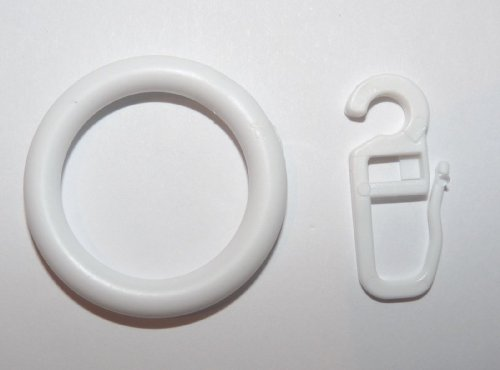 Kunststoff Gardinenringe Farbe Weiss für 28 mm Stangen