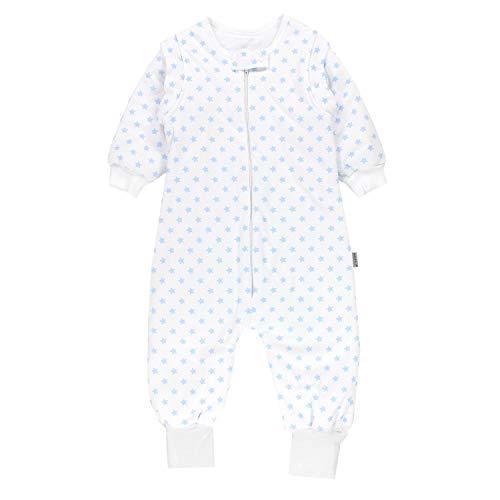 TupTam Baby Unisex Schlafsack mit Beinen und Ärmel Winter, Farbe: Sternchen Blau, Größe: 80-86