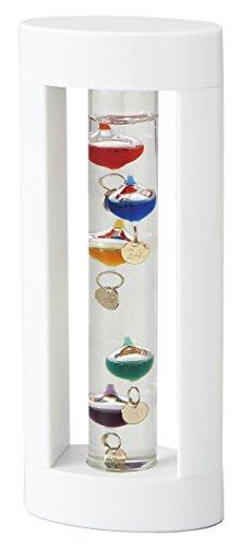 茶谷産業 温度計・湿度計 ホワイト 高さ18×幅7.5×奥行4cm