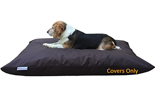 Do It Yourself DIY Pet Bed Pillow Duvet 1680 Nylon Durable Cover and Waterproof Internal case for Dog/Cat at Medium 36'X29' Seal Brown Color - Covers only