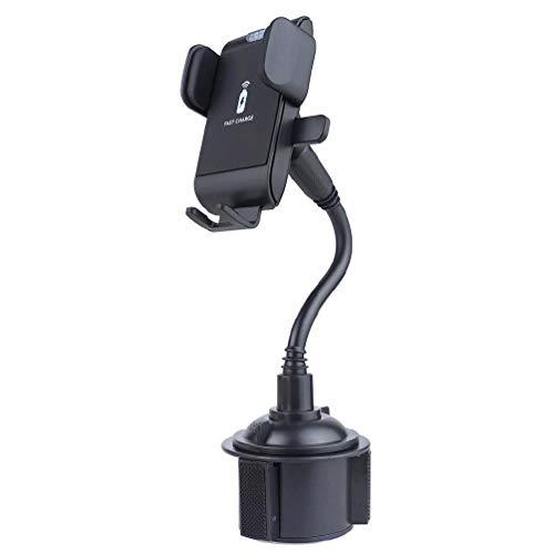 Soporte para teléfono de coche de 10 W USB cargador inalámbrico Qi coche taza teléfono soporte soporte soporte cuna para Sam-Sung 4-6.7 pulgadas teléfono móvil 10 W coche taza cargador inalámbrico