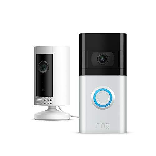 Nuevo Ring Video Doorbell 3 (+Ring Indoor Cam) | Vídeo HD, detección de movimiento avanzada e instalación fácil