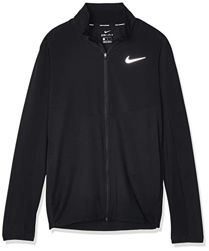 Nike Herren M NK ELMNT TOP FZ HYBRID Long Sleeved T-Shirt, Black/Reflective silv, L