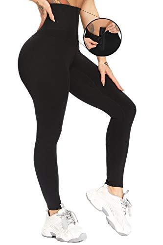 CFR Tummy Control Pants High Waist Body Shaper Pants Sports Legging Workout Thigh Slimming Cincher Tights Shapewear Black M