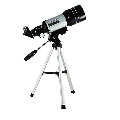YHDQ Telescopio astronómico, Estudiantes Principiantes Profesionales de observación de Estrellas para niños, telescopio de Doble Aumento con Tubo de Alta Densidad y Gran Aumento, diámetro 12 (mm)