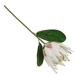 DZX Artificial Protea Flower Silk Flowers Fake Flower Branches Gifts for Vase Office Wedding Birthday Party,Arranging Bouquets