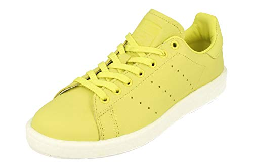 Adidas Originals Stan Smith Boost Hombre Trainers Sneakers (UK 12.5 US 13 EU 48, White Black Green BA7436)
