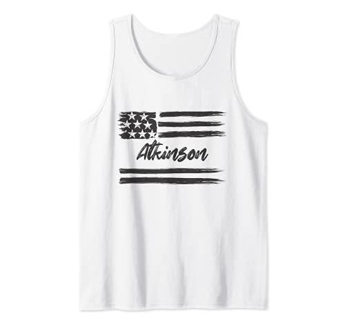 Atkinson, Nombre personalizado, barras y estrellas, bandera Camiseta sin Mangas