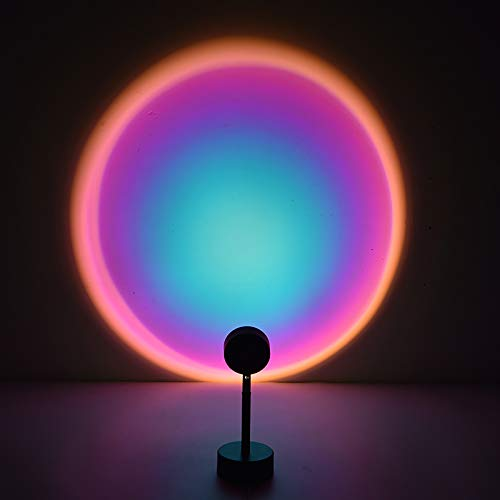 Sunset Projection LED Light,Romantic Sunset Lamp,Rainbow Modern Lamp,Romantic Crepúsculo Lamp Lamp para Dormitorio Salon Party Bar Store (Rainbow )