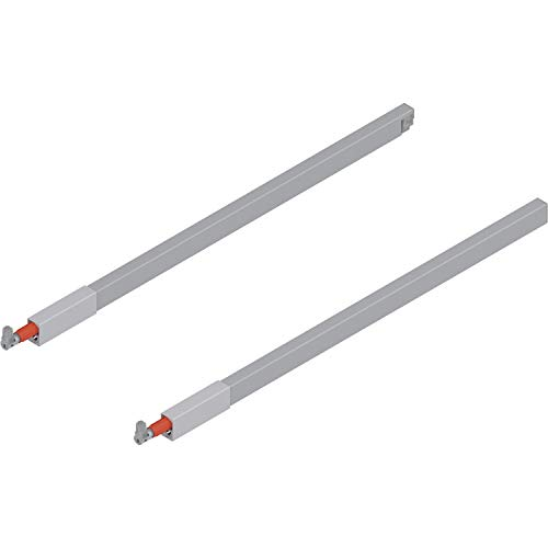 """Blum Tandembox 20"""" Top Gallery Rod Set Gray (Left & Right) ZRG.437RSIC"""