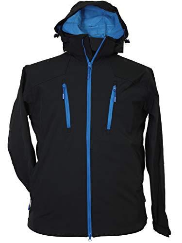 Blue Wave XXL Softshell Jacke mit Kapuze Marine, Größe:3XL