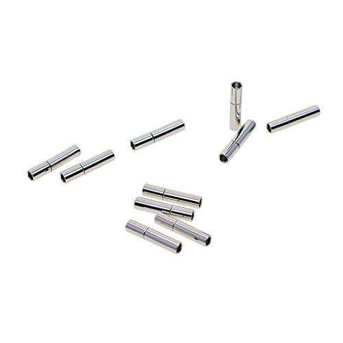 Sharplace 10 Sätze Leder Magnet Halsketten Kettenverschluss Magnetverschluss für Lederband Schmuckherstellung