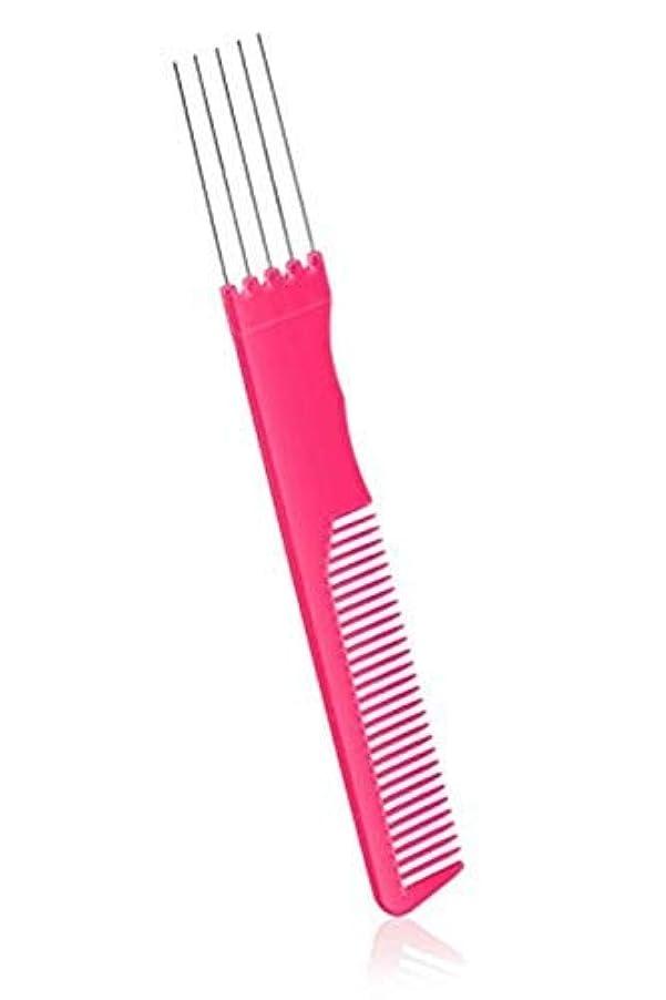 接地対曲線2 Pack Fashion Carbon Lift Teasing Combs with Metal Prong Perfect Salon Fluffing Lifting Styling with 5 Stainless Steel Pins [並行輸入品]