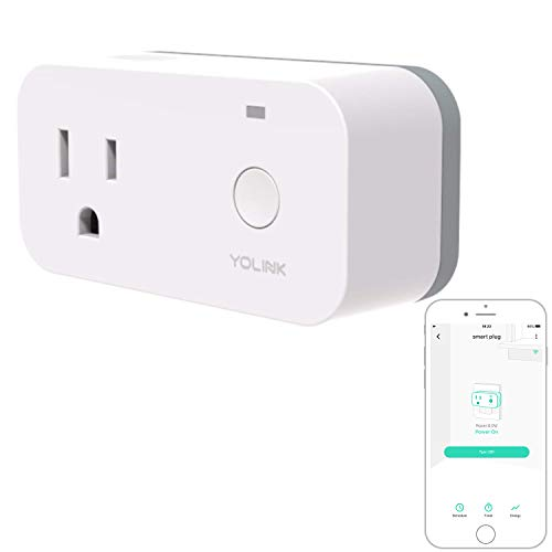 YoLink Smart Plug with Energy Monitoring, 1/4 Mile World's Longest Range Smart Home Mini Outlet Works with Alexa Google Assistant IFTTT Remote Control Home Appliances Anywhere, YoLink Hub Required