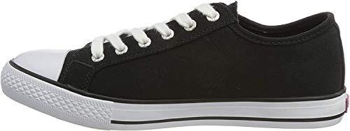 Levi's 222984-733-59, Zapatillas de Lona Mujer, Negro, 38 EU