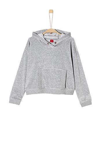 s.Oliver Junior s.Oliver Junior Mädchen 66.809.41.7867 Sweatshirt, Grau (Light Grey Melange 9400), 140 (Herstellergröße: S/REG)
