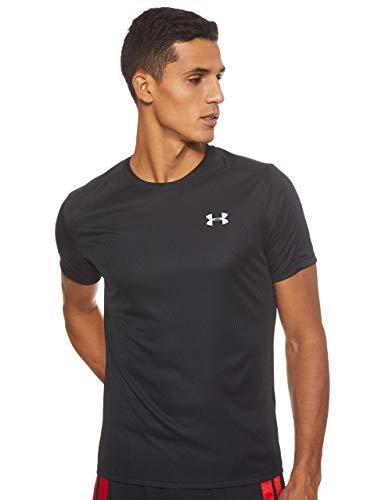 Under Armour UA Speed Stride, Camiseta Hombre, Negro (Black/Black/Reflective (001)), L