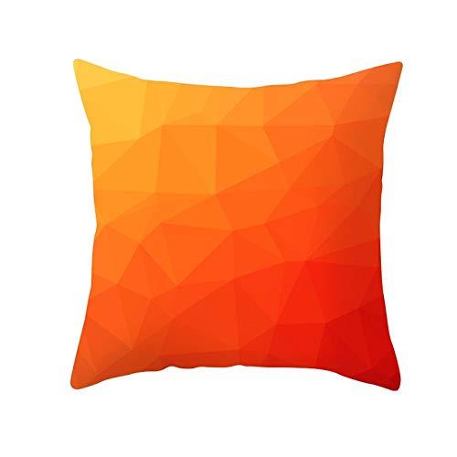 Fundas de Cojines Funda de Cojín Geometría naranja Cojines Decoracion Terciopelo Suave Fundas de Almohada Cuadrado para Sofá Cama Sillas Coche Dormitorio Decorativo Hogar M7707 Pillowcase,60x60cm